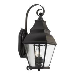 Bristol 2 Light Outdoor Wall Lantern In Charcoal And Beveled Glass