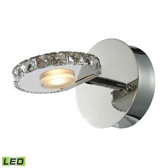 ELK lighting Spiva 1 Light Vanity In Polished Chrome And Crystal Banding
