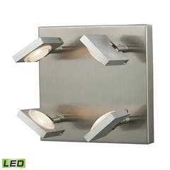 ELK lighting Reilly 4 Light Wall Sconce In Brushed Nickel And Brushed Aluminum