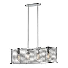 ELK lighting Brisbane 4 Light Chandelier In Polished Chrome
