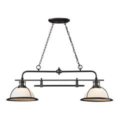 Wilmington 2 Light Billiard In Oil Rubbed Bronze
