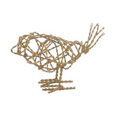 Lazy Susan Brass Scribble Bird - Sm
