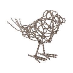 Nickel Scribble Bird - Small