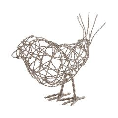 Nickel Scribble Bird - Large