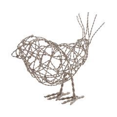 Lazy Susan Nickel Scribble Bird - Lg
