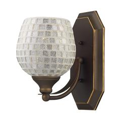 ELK lighting Bath And Spa 1 Light Vanity In Aged Bronze And Silver Glass