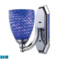Bath And Spa 1 Light LED Vanity In Polished Chrome And Sapphire Glass