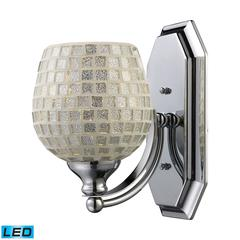 ELK lighting Bath And Spa 1 Light LED Vanity In Polished Chrome And Silver Glass