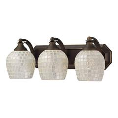 ELK lighting Bath And Spa 3 Light Vanity In Aged Bronze And Silver Glass