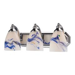 Bath And Spa 3 Light Vanity In Polished Chrome And Mountain Glass
