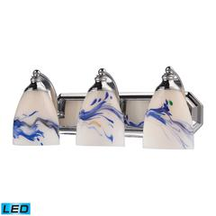 ELK lighting Bath And Spa 3 Light LED Vanity In Polished Chrome And Mountain Glass