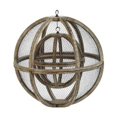 Lazy Susan Wire Atlas Spheres-Set Of 2
