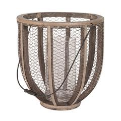 Barrel Wire Atlas Hurricane Vase