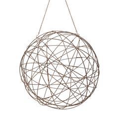 Aged Iron Wire Sphere - Large