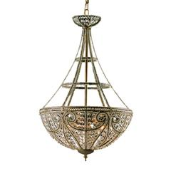 Elizabethan 4 Light Chandelier In Dark Bronze