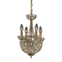 Elizabethan 5 Light Chandelier In Dark Bronze