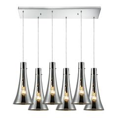 ELK lighting Menlow Park 6 Light Pendant In Polished Chrome