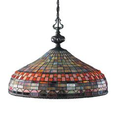 Jewelstone 3 Light Chandelier In Classic Bronze