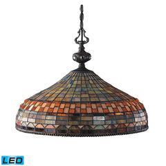 ELK lighting Jewelstone 3 Light LED Chandelier In Classic Bronze