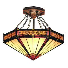 Filagree Semi Flush In Aged Bronze