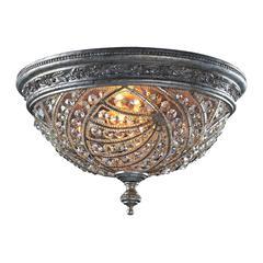 ELK lighting Renaissance 4 Light Flushmount In Sunset Silver