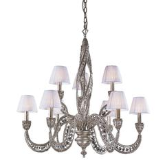 ELK lighting Renaissance 9 Light Chandelier In Sunset Silver