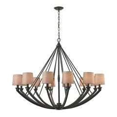ELK lighting Morrison 12 Light Chandelier In Oil Rubbed Bronze
