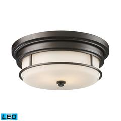 Newfield 2 Light LED Flushmount In Oiled Bronze
