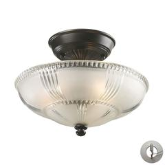 ELK lighting Restoration Flushes 3 Light Semi Flush In Oiled Bronze - Includes Recessed Lighting Kit