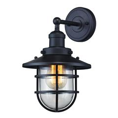 Seaport 1 Light Sconce In Oil Rubbed Bronze And Clear Glass