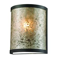 Mica 1 Light Wall Sconce In Oil Rubbed Bronze And Tan Mica