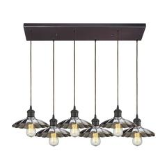 Corrine 6 Light Pendant In Oil Rubbed Bronze And Chrome