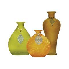 Garner Set of 3 Adorned Vases