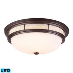 ELK lighting Tiffany Flushes 3 Light LED Flushmount In Oiled Bronze
