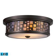 ELK lighting Tiffany Flushes 2 Light LED Flushmount In Oiled Bronze