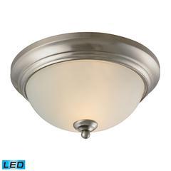 Huntington 2 Light LED Flushmount In Brushed Nickel