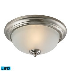 Huntington 3 Light LED Flushmount In Brushed Nickel