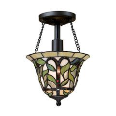 Latham 1 Light Semi Flush In Tiffany Bronze