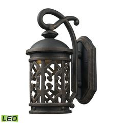 Tuscany Coast - LED 1 Light Exterior Wall Mount In Weathered Charcoal