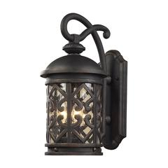Tuscany Coast 3 Light Exterior Wall Mount In Weathered Charcoal
