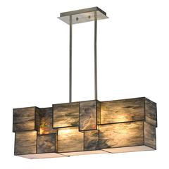 ELK lighting Cubist 4 Light Chandelier In Brushed Nickel