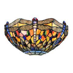 Dragonfly 1 Light Wall Sconce In Dark Bronze