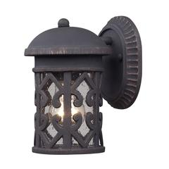 Cornerstone Tuscany Coast 1 Light Exterior Wall Mount In Weathered Charcoal