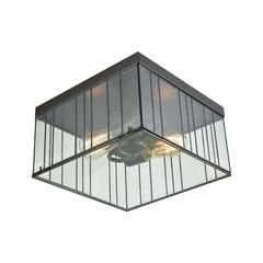 Lucian 2 Light Flush In Oil Rubbed Bronze With Clear Glass