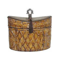 Sterling Harlequin And Tassel Decorative Box