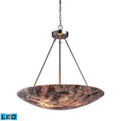 ELK lighting Avalon 5 Light LED Pendant In Satin Nickel