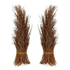 Lazy Susan Natural Coco Twig Sheaf - Set Of 2