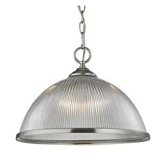 Cornerstone Liberty Park 1 Light Pendant In Brushed Nickel