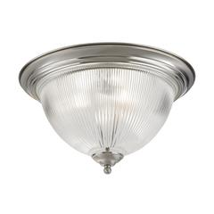 Liberty Park 3 Light Flush Mount In Brushed Nickel