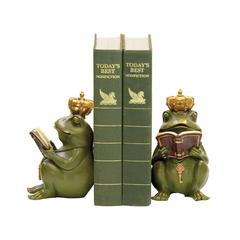 Pair of Superior Frog Gatekeeper Bookends